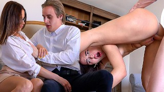 Sex education teacher Maryana fixed cock problem for new student