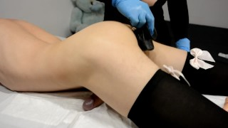 Sissy boy Humping and Cum Hands Free - after waxing