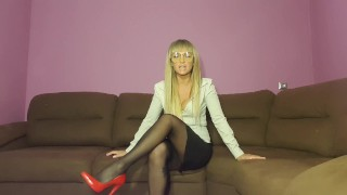 Lady boss play with sub worker ( BDSM)