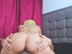 SEXO - Hermosa chica latina haciéndole sentones a su NOVIO - Little_cake69