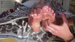 Amazing girl with beautiful soles tied and tickled until she cums twice (Preview/Teaser)