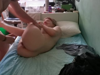 Passionate lovemaking session in the bedroom