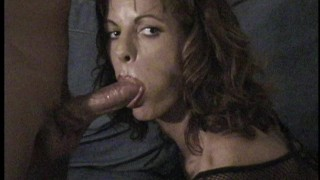home movie Fishnet Blow Job by Sara Ashley and MILF Hunter before MILF Hunter swallow cum