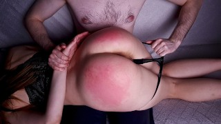 Spanking Naughty Slut BIG ASS and Her Pussy Got VERY WET