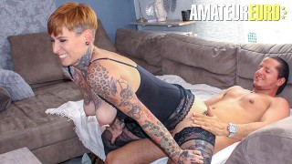 ReifeSwinger - Tattooed German Mature Slut Hardcore Sex Date With Her Boyfriend