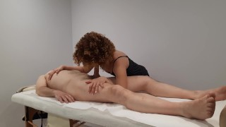 Nice back massage with a happy ending