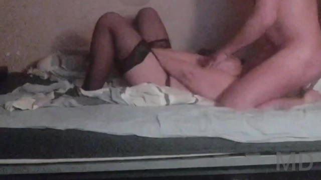 Humiliation and Betrayal of a Russian married woman in stockings with big tits