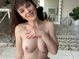 Emily Lynne FIRST EVER BOOBS JOI jerk off for my natural tiddies