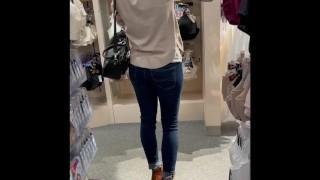 Naughty Milf Secretly Wears Remote Control Vibrator in Public Shopping Again!—CumPlayWithUs2