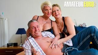 XXXOmas - Big Tits Amateur German Grannies Crazy Foursome Fucking