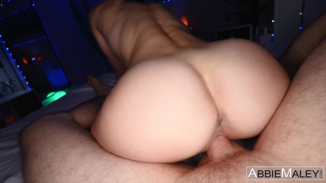 Petite Fitness Babe Can't Get Enough Of Her Roommate's Cock - Abbie Maley