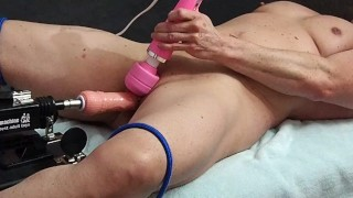 Tied wide open and fucked with machine