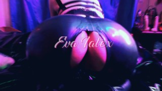 Eva Latex fuck her mouth and anal big dick fetish mature hot milf gloves high heels gonzo homemade