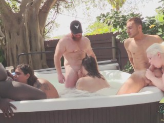 COLLEGE PARTY HOT TUB ORGY ENDS IN PREGNANCY