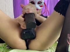 Angry cat footjob and fisting