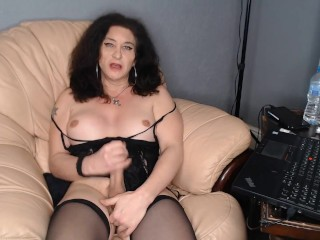 Busty hung Mature trans ,telling you how uve been turned into a sissy cuckold