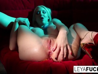 Leya Falcon shoots Gummy Bears out of her ass then swallows them
