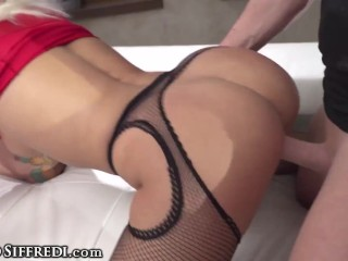 RoccoSiffredi Horny MILF Is Double-Destroyed By Her Husband's & His BFF's Huge Dicks