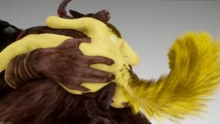 Furry Anal Slut x Monster Cock 3D