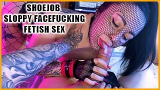 Fetish fishnet nylon mask and dirty slutty bitch - 3WetHoles
