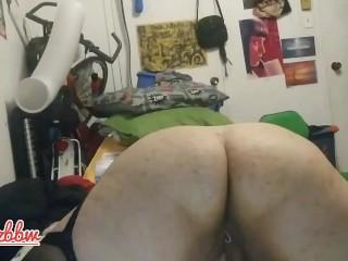 BBW is shaking from her big orgasm