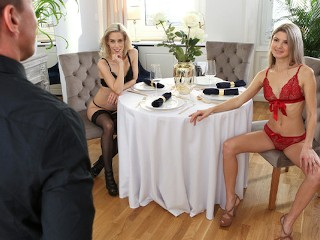 Hot Blondes Nesty and Gina Gerson Share Huge Cock In Sensual Fuck - S38:E8