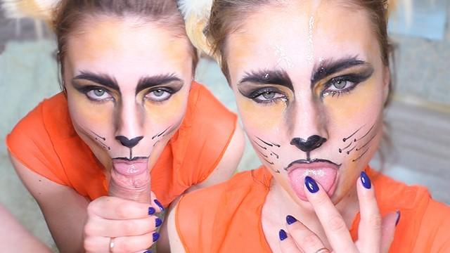 Sensual Blowjob From Horny Fox - Facial - Cosplay