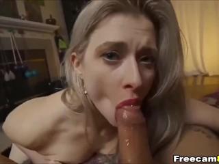 Seductive Blonde is a Sexy Cock Sucker