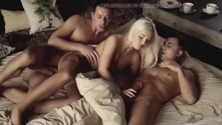 THREESOME FANTASY MMF - WIFE SHARED - KINKY WIFE ENJOYS 3SOME FUCK WITH FRIENDS