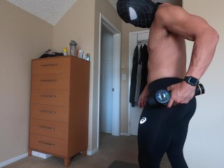 muscle massage and blowing the load daily routine before the gym