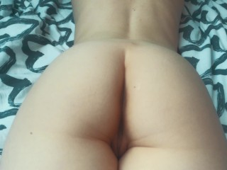 juicy fucked his girlfriend from behind cum on ass
