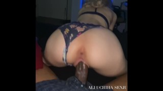 SUBMISSIVE WHITE SLUT KNOWS THE DICK TOO BIG BUT SHE BOUNCES HER CREAMY HAPPILY ANYWAYS