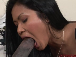 Priva gets a warm welCUM to the US from a Big Black Cock
