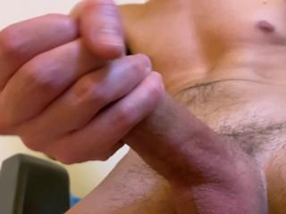 Horny Man Wanking Big Dick While Dirty Talking & Moan ASMR Orgasm – Huge Cumshot 4K
