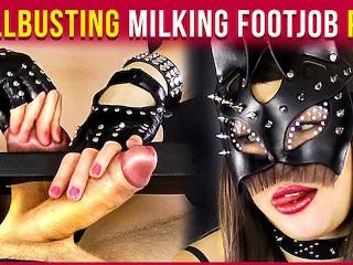 Femdom Milking – Ballbusting and Footjob with Balls Stretching | Era