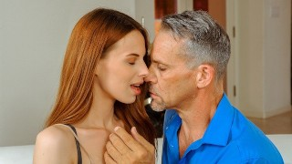 DADDY4K Sex with BFs dad is how dazzling chick on her man