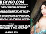 Hotkinkyjo fucking the Theeng dildo from MrHankey & anal prolapse