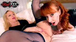 Horny lesbian matures Red and Lucy fuck each other