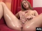 Teen Redhead Alexis Crystal Masturbates for the Camera