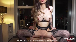 WHORNYFILMS- Hot POV Anal with big tits babe in sexy lingerie