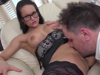 Czech Babe Barbara Bieber Takes Monster Facial