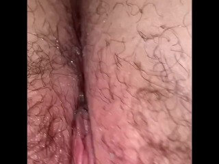 Showing off my wet hairy pussy (no audio)