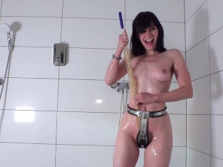 Taking a Shower in Chastity