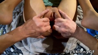 This pussy gape is Enormous!!! I put my fist inside