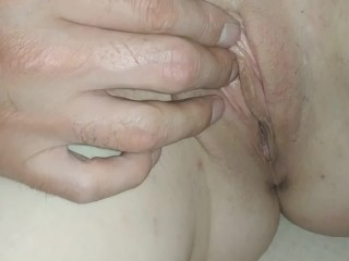 JERK my gf WET PUSSY and cumshot on her TITS!