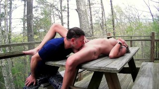 SENSUAL Outdoor CUNNILINGUS ~ Making her CUM Quick ~ INTIMATE Pussy Licking ~ REAL ORGASM ~ONLYFANS
