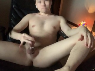 Sweet gay licks his dick