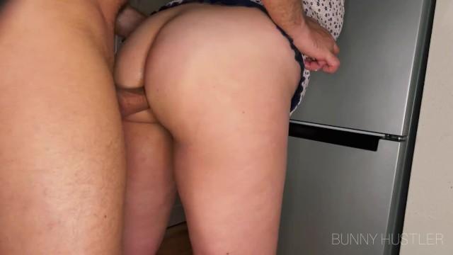 Standing anal penetration for fat ass milf