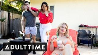 ADULT TIME - Railing My Big Tit Blonde Teacher with My Sexy Stepmom