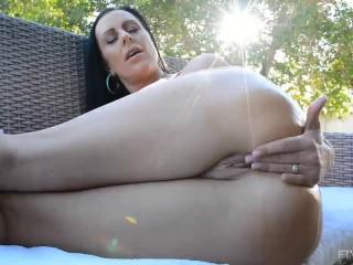 Big Titty German MILF Texas Patti Masturbates and gets Fingered